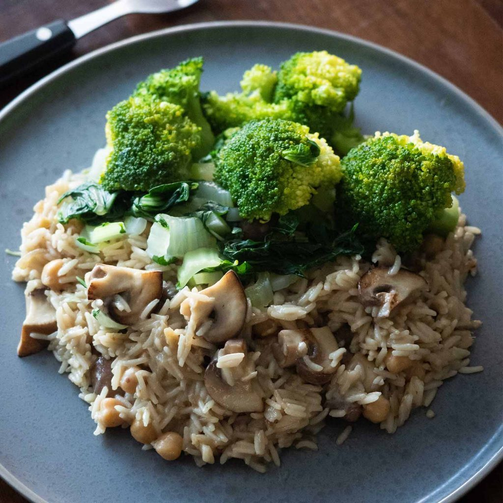 Mushroom Coconut Rice
